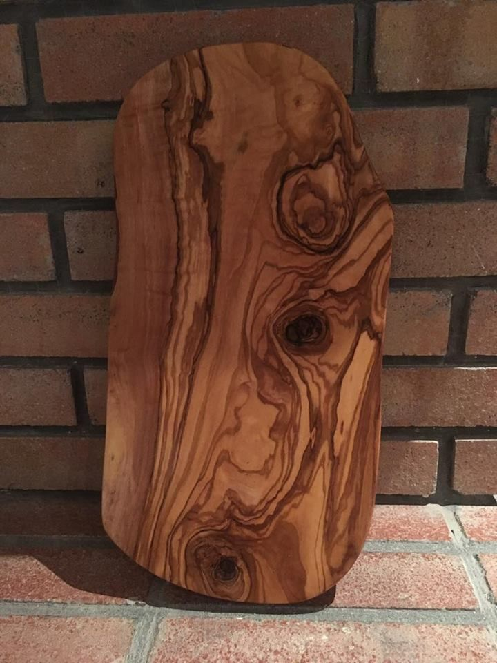 Olive Wood Cutting Boardunique Wooden Board For Breakfastwood