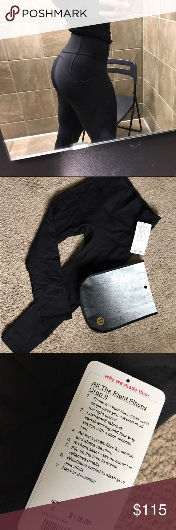 🍋Lululemon All The Right Places Crop II🍋 Love, love, love these pants! They're so flattering and really hold you in. Very impressed with this style! Pretty much brand new - worn twice. There is a small snag on one seam, but any Lululemon store will fix it for free. lululemon athletica Pants Leggings