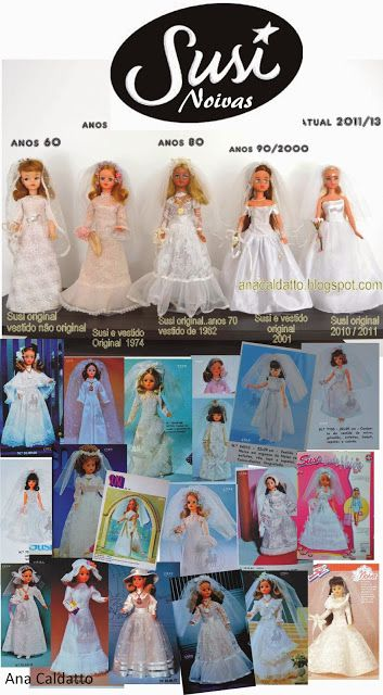 Susi Bride Doll differences over the years, photos by Ana Caldatto. (Fotos de…