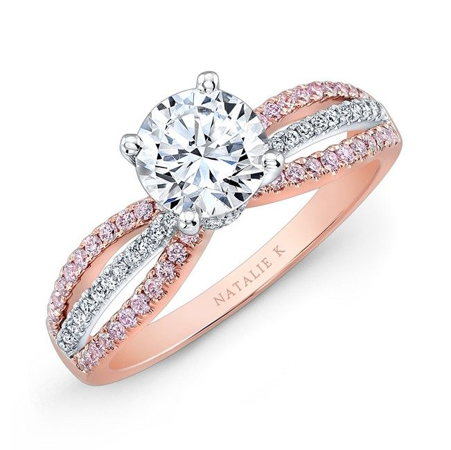 rose gold engagement rings - Rose Gold Diamond Wedding Ring