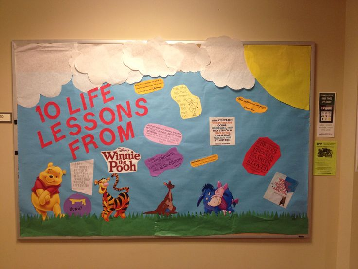 Classroom Theme Ideas High School ~ No one is too old for winnie the pooh bulletin boards
