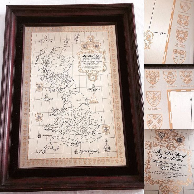 Framed #silver map of #GreatBritain etched on solid #sterling silver and embellished with #24K #gold by #DanburyMint in for our #Antiques #Collectables #Coins & #Militaria #auction next Weds. Catalogue now online at townsend-auctions.co.uk  #silverwork #antiquesauction #preciousmetald #uk #maps #britishisles