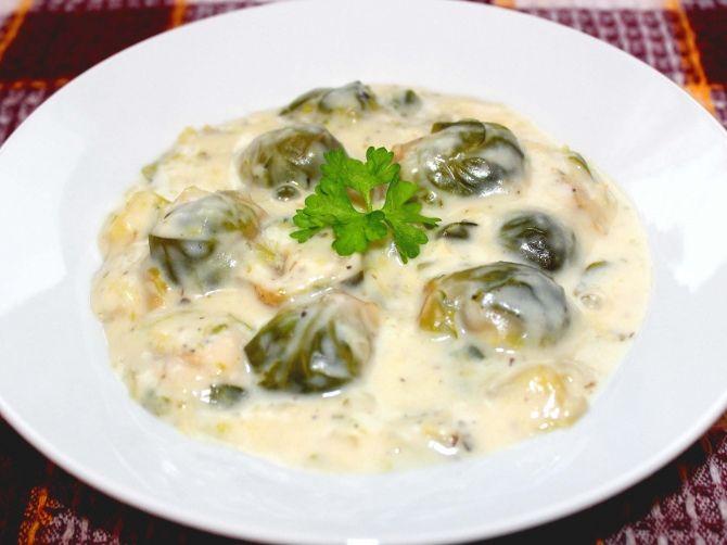 Tejszínes kelbimbó főzelék recept
