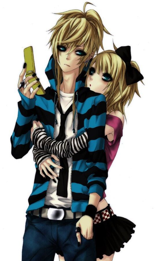 Emo love :3..so....COOLLLLLLLLLLLL > honestly they look more scene then emo<<<< u sure this isnt len and rin kagamine bc i sure looks like them