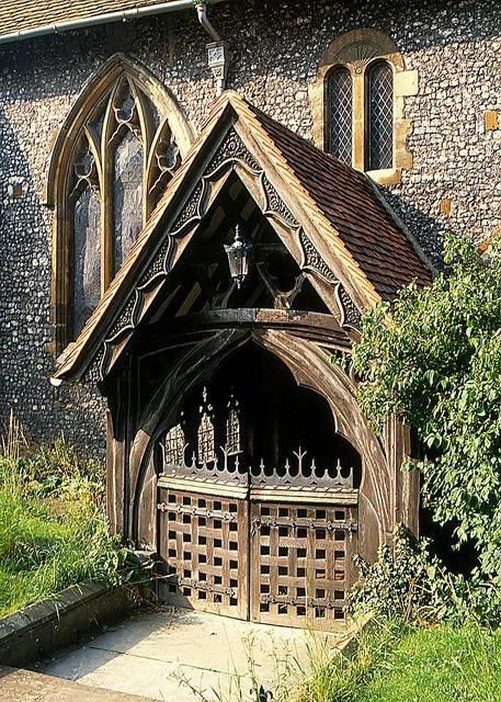 Church doorway, Sonning-on-Thames, Reading, Berkshire, United Kingdom