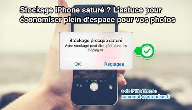 """On connaît tous ce message énervant qui apparaît sur l'iPhone : """"Stockage presque saturé"""". Eh bien, sachez qu'Apple a ajouté une nouvelle fonctionnalité qui permet d'avoir plus d'espace de stockage. Et ce gratuitement ! Pas besoin d'acheter un nouvel iPhone avec plus de stockage.   Découvrez l'astuce ici : http://www.comment-economiser.fr/astuce-iphone-pour-augmenter-stockage-iphone-gratuit.html?utm_content=buffer7a92c&utm_medium=social&utm_source=pinterest.com&utm_campaign=buffer"""