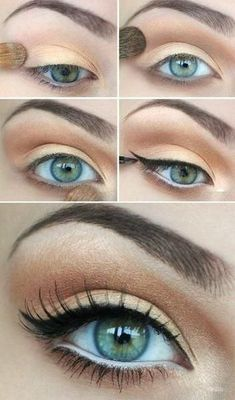 Makeup for red heads. This would be only for special occasions. Too heavy for everyday. Beautiful gold tones though look awesome with red hair.