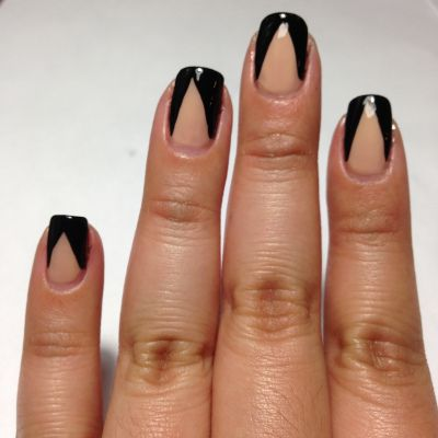 Mani Monday: Bold Chevron Manicure www.salonfanatic.com