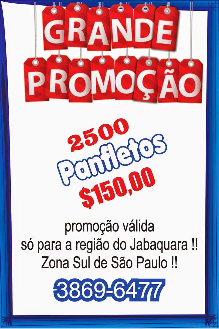 DISK DO BAIRRO: 2500 PANFLETOS 10X15 FRENTE COLORIDO SÓ $150,00 !!...