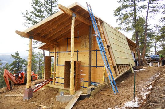 Article about the challenge of building a certified Passive House without foam or other harmful materials.   #DIY Tiny Homes