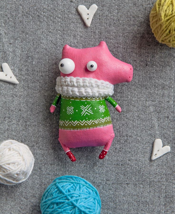 A personal favorite from my Etsy shop https://www.etsy.com/listing/572352555/little-pig-in-white-scarf-brooch