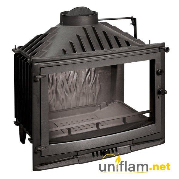 Kaminnaya Topka Uniflam 700 Selenic Pravoe Bokovoe Steklo S Shiberom