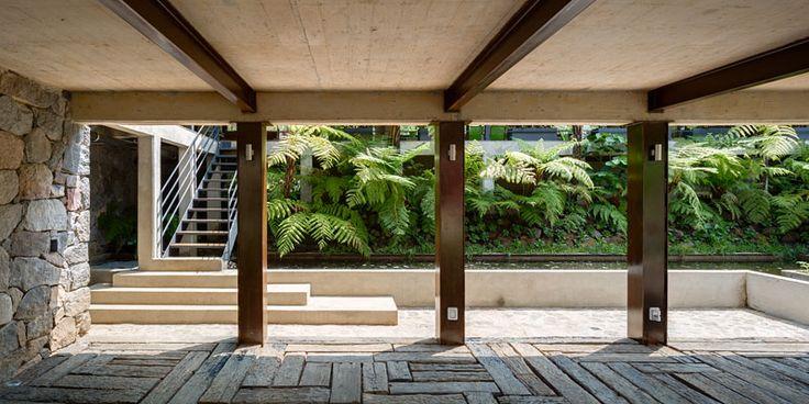 Reclaimed wood terrace