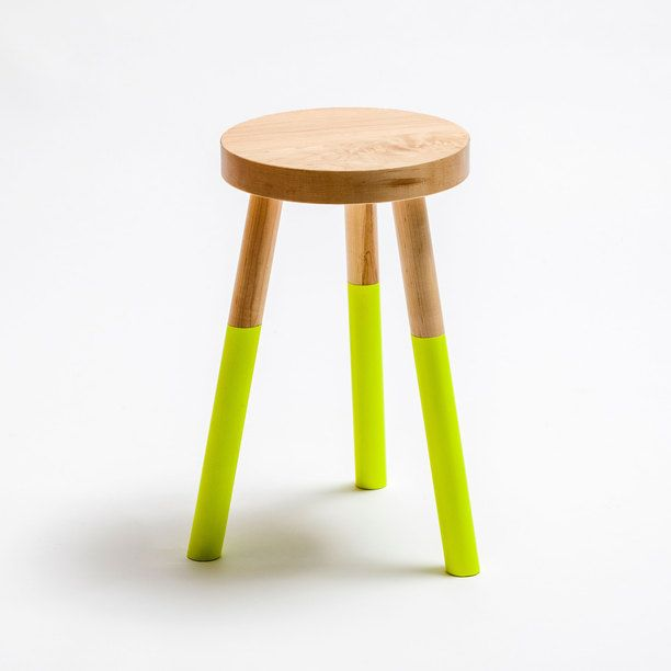 Holy Stool Medium Neon Yellow furniture, ottomans, neon yellow