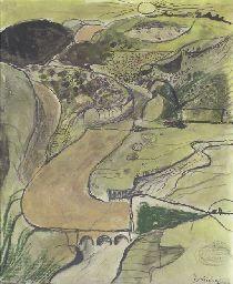Graham Sutherland, Pembrokeshire Landscape, Valley above Porthclais
