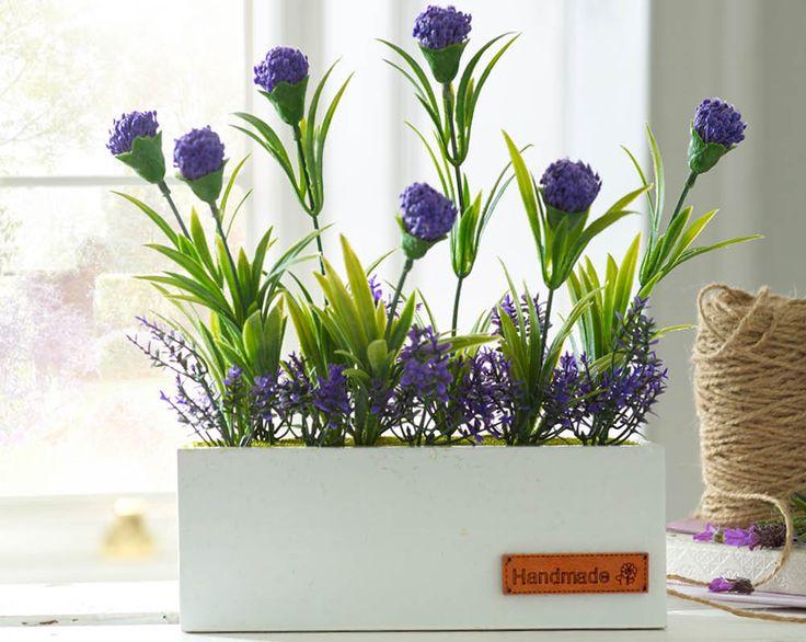 Lavender Window Box £10  Simple yet stylish artificial lavender window box arrangement in a white MDF box. Size H24 x W21 x D15cm  Kleeneze KLife