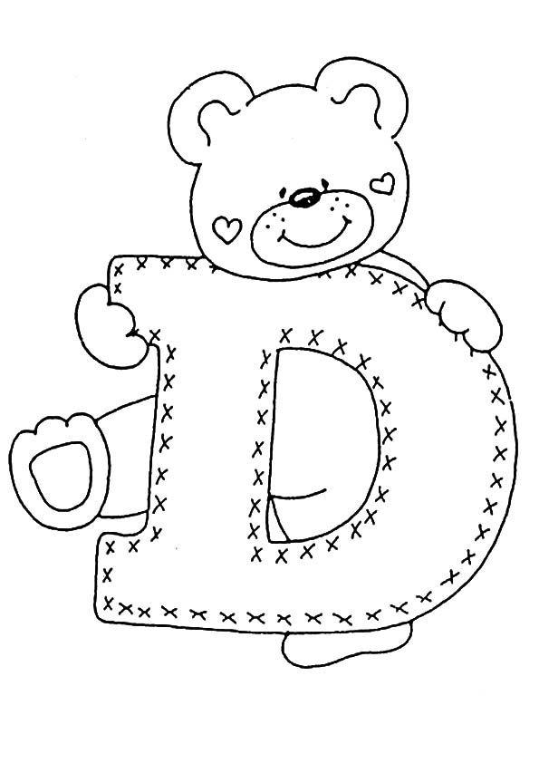 Ausmalbilder Buchstaben D Stickerei Alphabet Buchstaben Schablone Ausmalbilder