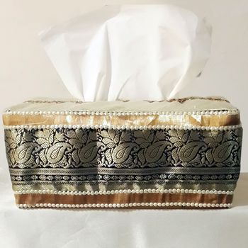 Elegant Shimmer Tissue Paper Box.
