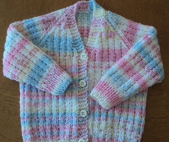 Mulit Colored Hand Knitted Baby Sweater by CountryCrafts4You, $18.00
