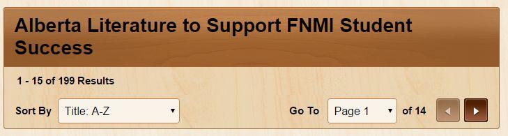 Alberta Literature to Support FNMI Student Success