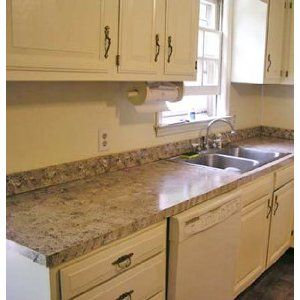 Formica Countertop Paint Kit : for covering up ugly laminate counter tops (we can use this for a ...