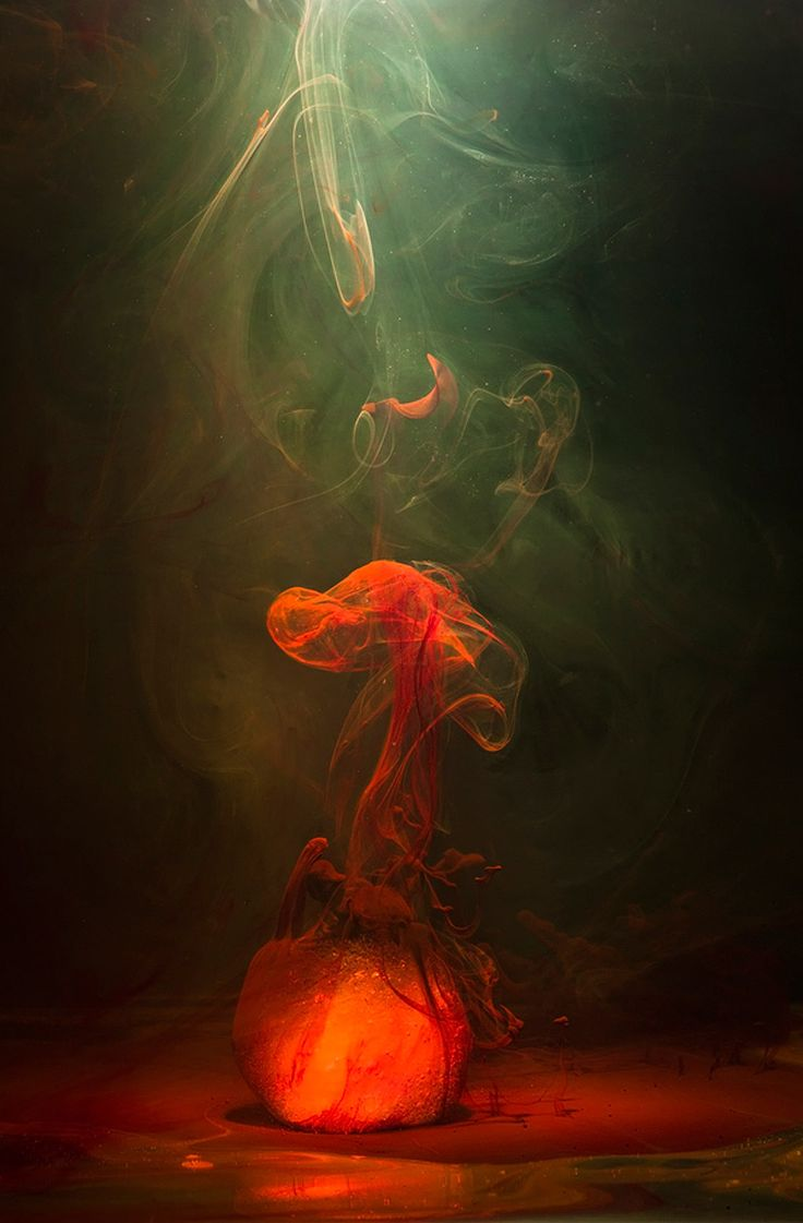 suspended colored fluid