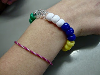 water cycle bracelet that  leads to a super teacher site