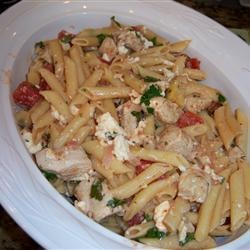 Penne met kip, artisjok en feta recept - Recepten van Allrecipes
