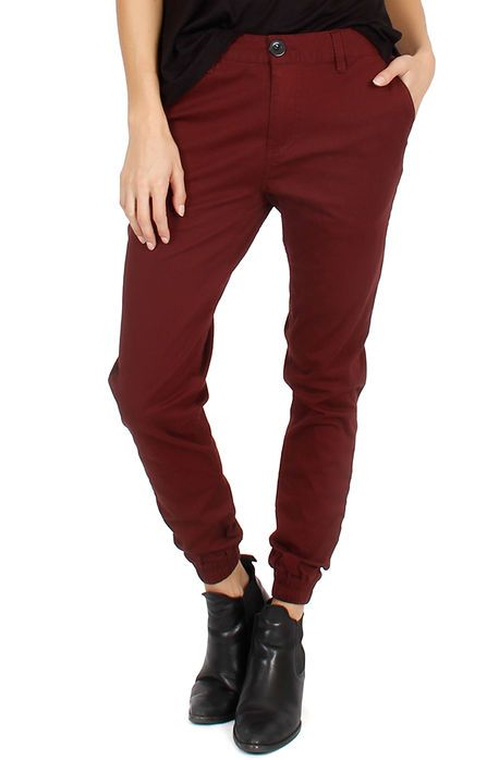 Lira Pants Collect Jogger Maroon Red