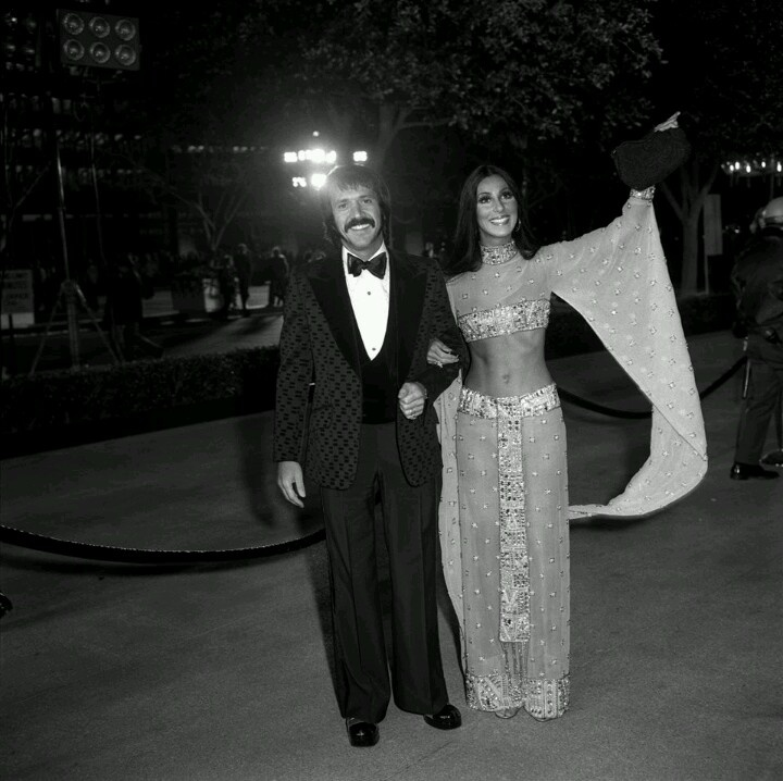 Sonny & Cher arriving at the Academy Awards 1972