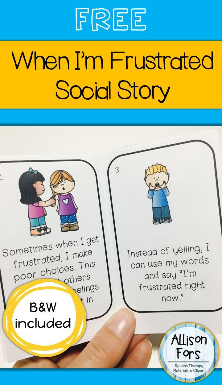 FREE social story mini-book on how to handle frustration in color and black & white. A great way to discuss feelings and appropriate ways to express them!