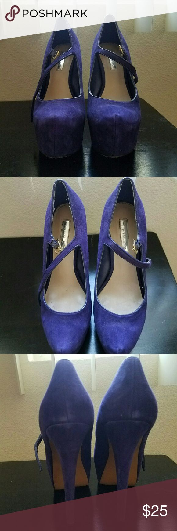 H by Halston High Heel Shoes Purple strappy high heel shoes, barely worn but super cute. H by Halston Shoes Heels