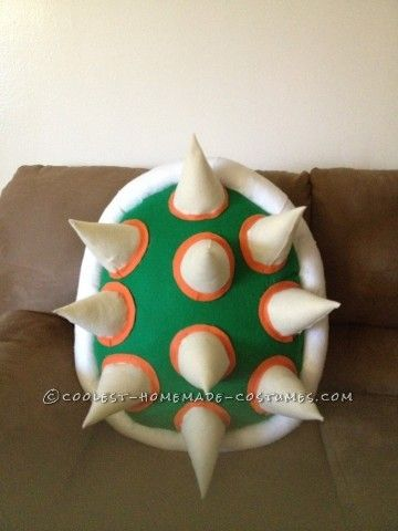 Cool DIY Bowser (King Koopa) Halloween Costume for a Boy