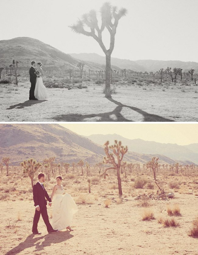 Desert wedding, adore. Simple, elegant, and the smell of sage, wild flowers, adore. joshua tree wedding