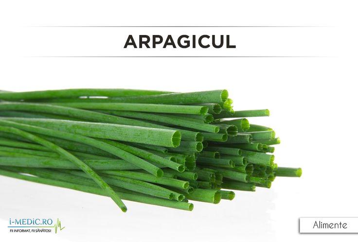 Arpagicul este o planta inrudinta cu ceapa, insa are un gust mai fin - http://www.i-medic.ro/diete/alimente/arpagic