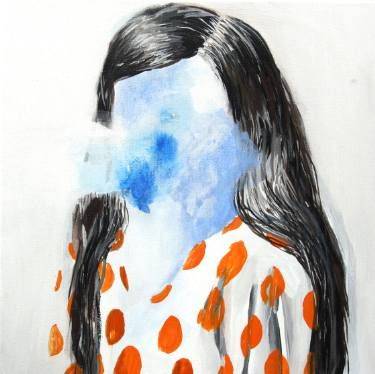 "Saatchi Art Artist Hanna Ilczyszyn; Painting, ""Face-less (exhibition)"" #art"