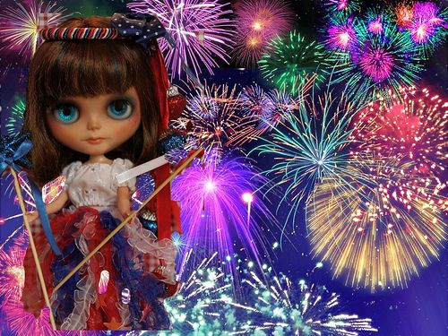Blythe A Day July 4th Independence Day by A Little Fairy Magic/Leezapea1, via Flickr