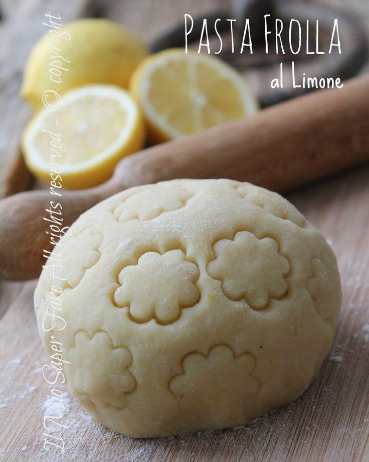 Pasta frolla al limone ricetta gustosa per crostate,tartellette e biscotti.Aromatizzata con limone perfetta per preparazioni di dolci estivi.Molto versatile