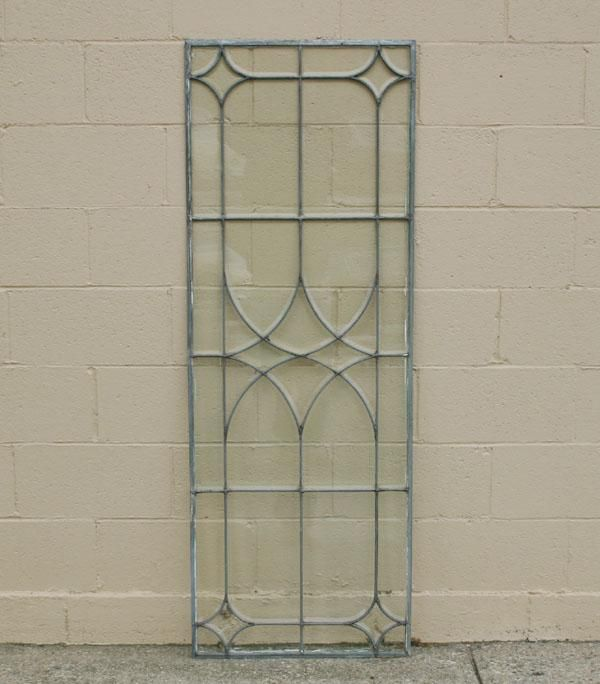 Victorian beveled leaded glass window.