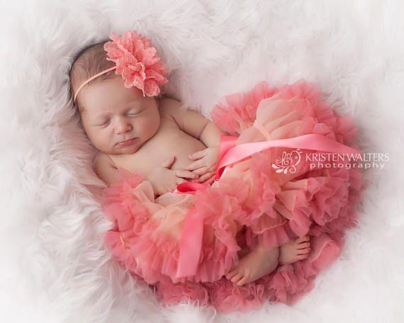 Baby corallo Tutu Tutu del bambino neonato Tutu Tutu per