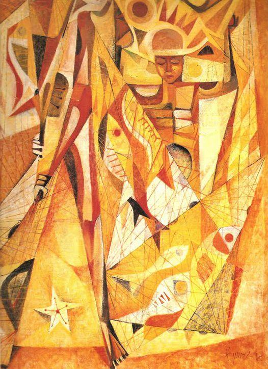 Fisherman (Filipino Modern art)