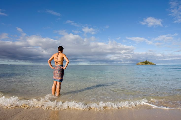 Early morning swim at the boatshed   Lord Howe Island