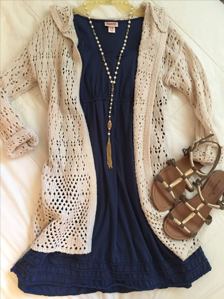 Church or teacher outfit | Cardigan: JCPenney Dress: Target Necklace: Kohls Shoes: Payless