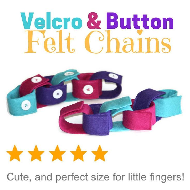 If your kiddos not quite ready for button skills, you can get a set! Start your little one off with threading the Felt pieces and connecting with Velcro and when they're ready you can move on to the button chain! In the end you will have more of each colour to practice patterns too!!! myraecreations.etsy.com