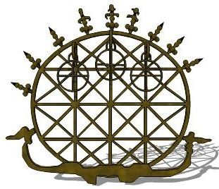 Hittite sun disk found in many ancient tombs might be another form of the Flower of Life pattern.
