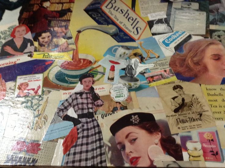 Our new Shop Counter. Created from Woman's Magazines 1940's - 1960's