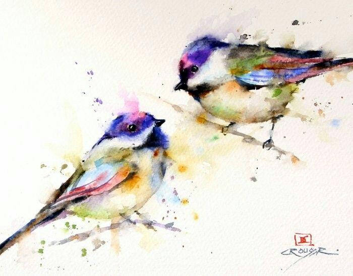Акварельные птички