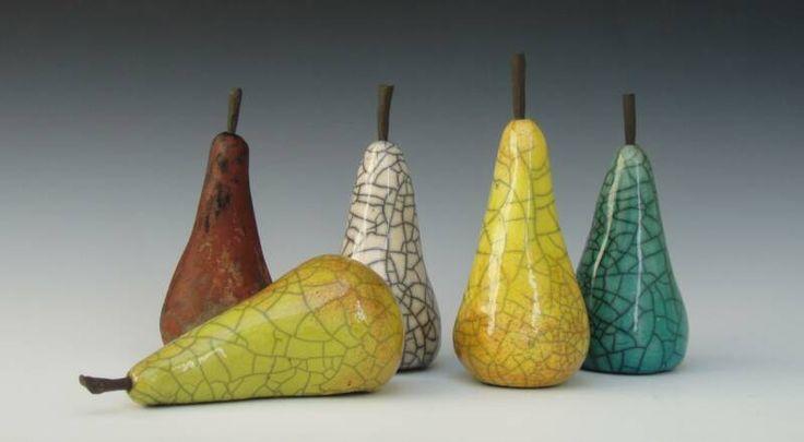 Raku pears enlarged Jo Anne Bedient