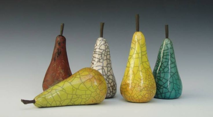Raku pears enlarged Jo Anne Bedient