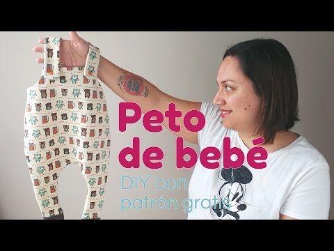 DIY Costura: Cómo hacer pijama de bebe (patrones gratis) - YouTube